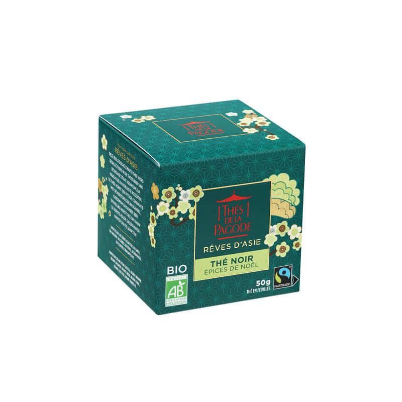 """Thé noir """"Epices de Noël"""" - Visuel boite carton 50g"""