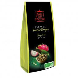 Thé vert fruit du dragon - Visuel du sachet de 100g