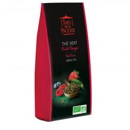 Thé vert fruits rouges - Visuel du sachet de 100g