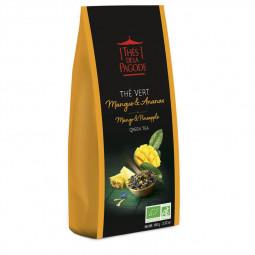 Thé vert mangue ananas - Visuel du sachet de 100g