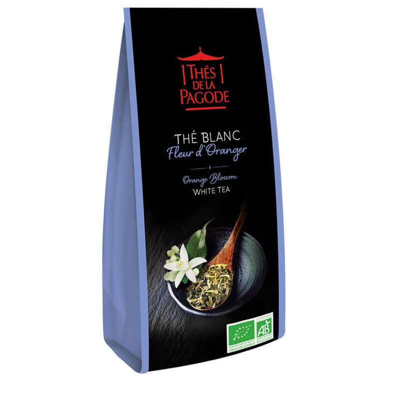 Thé Blanc Fleur d'Oranger - Visuel du sachet de 100g