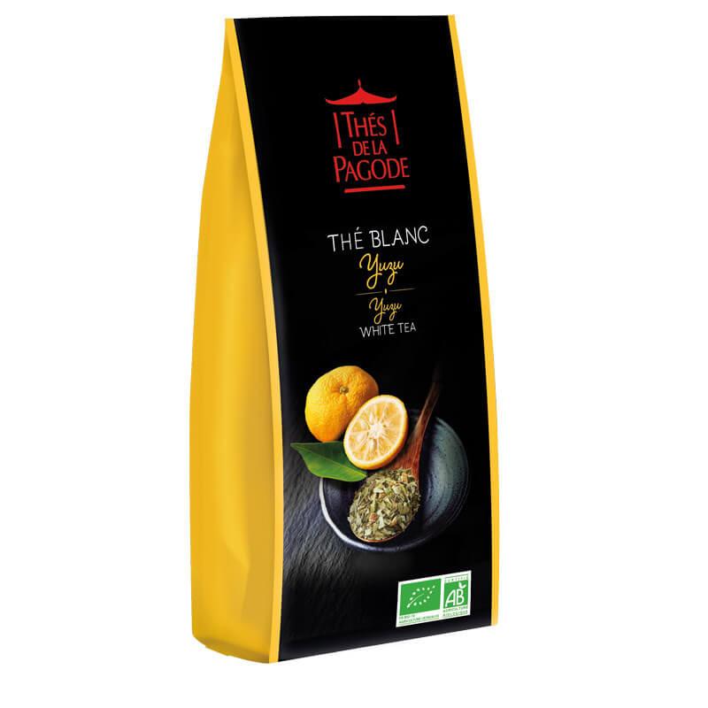 Thé Blanc Yuzu - Visuel du sachet de 100g