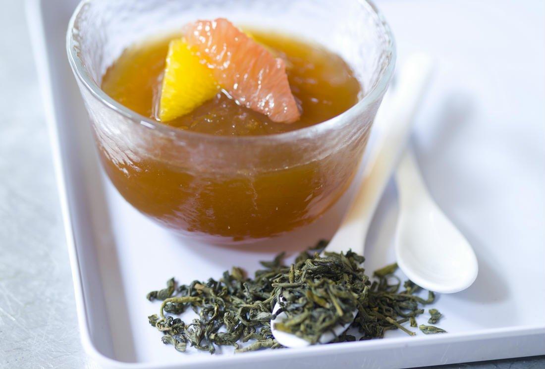 Recette Dessert Thé Vert – Gelée de Thé Vert aux Agrumes