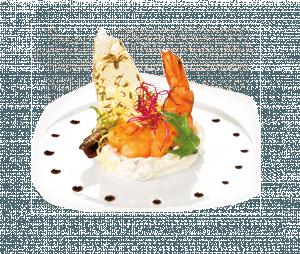 Repas de Noël au thé : Mousse d'Asperges blanches avec des Crevettes flambées et son Thé Vert Cru Naturel