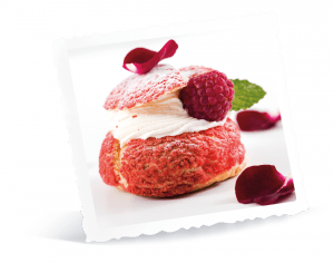 Petit Chou à la Crème de Framboises et son Thé aux Fruits Rouges