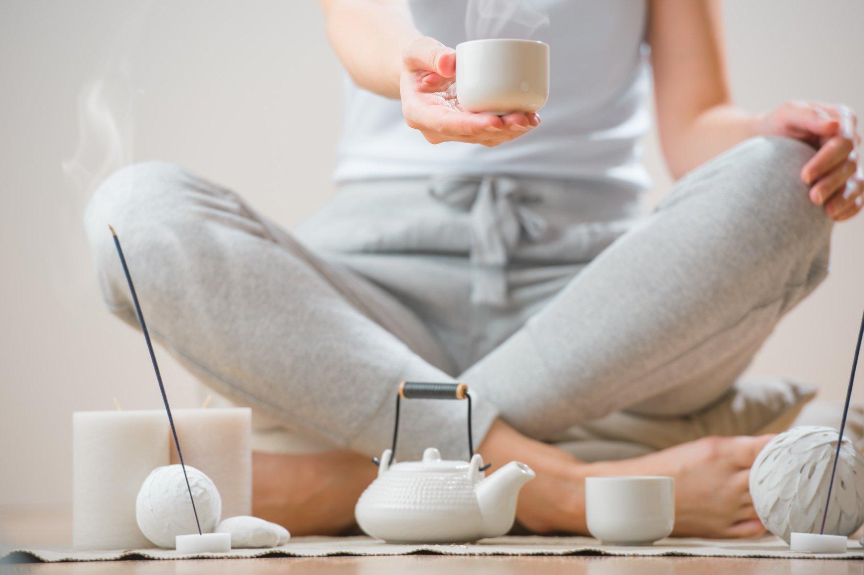 Thé et méditation en association pour le corps et l'esprit, avec Petit BamBou
